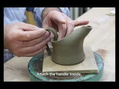 POTTERY - How to make a small ceramic jug. クラーク陶芸教室千葉県市川市より。 - YouTube