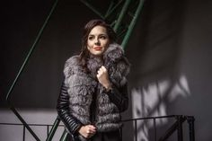 Blue Frost Fox Fur Coat