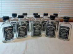 11 Jack Daniels  old #7 100 ml empty bottle collection