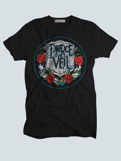 Pierce The Veil Flower Logo  Custom T shirts,Band Merchandise,Tees,Clothing,Short sleeve (Made in USA)