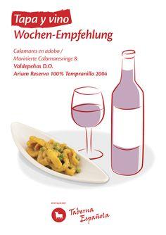 Calamaresringe in seiner Sauce Tapas, Restaurant, Food, Olivier Salad, Mediterranean Kitchen, Eten, Restaurants, Meals, Dining Room