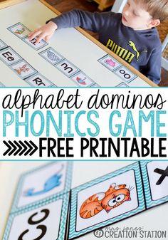 Beginning Sounds Phonics Game Alphabet Dominos - MJCS