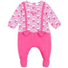 Agatha Ruiz de la Prada Girls Pink Heart Cotton Jersey Babygrow at Childrensalon.com