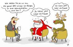 Nach nett und lieb und Bastelidee und Enkel und Oma jetzt noch mal die Rubrik fett und gemein. Weihnachtsmann Cartoons hier in meiner Sammlung.
