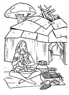 Coloring Sheet - Native American | Preschool - Native American ...