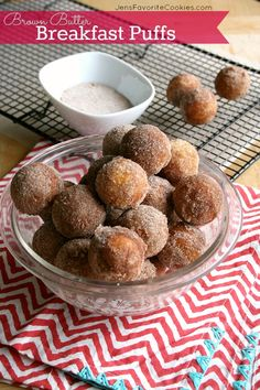 Brown Butter Breakfast Puffs (make in a cake pop maker or a mini-muffin pan!) | Jen's Favorite Cookies