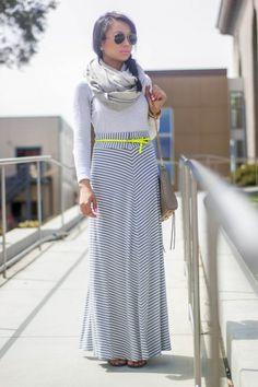 Neon, Stripe Maxi Skirt, #RebeccaMinkoff