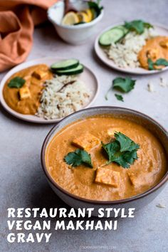 Vegan Tofu Makhani gravy - Restaurant style delicious Indian Butter tofu..Creamym rich and dairy free, this plant based curry is best served with rotis, naan or fluffy basmati rice..! #tofu #curry #vegan #vegetarian #indianfood #restaurantstyle #pannerbuttermasala #plantbasedrecipes #healthyliving #dairyfree #northindianrecipes #gravies | cookingwithpree.com