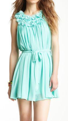Ruffled mint dress