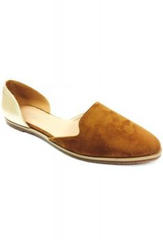 DBDK D'orsay Suede/perforations two tone flats