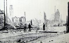 This photo shows the devastation of Downtown Jacksonville following the Great Fire of 1901. In eight hours, the fire burned 146 city blocks, destroyed more than 2,368 buildings, and left almost 10,000 residents homeless.
