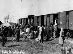The Holocaust: Slovak Jews embark for the trip to Auschwitz. Propad, Slovakia, March 1942. A 2006 estimate is that approximately 105,000 Slovak Jews, or 77% of Slovaki'as prewar Jewish population, died during the war.