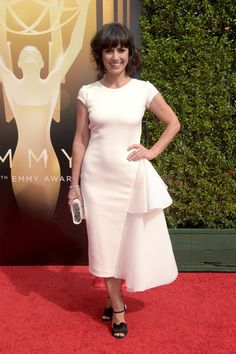 Actress Constance Zimmer attends the 2015 Creative Arts Emmy Awards at Microsoft Theater on September 12, 2015 in Los Angeles, California.