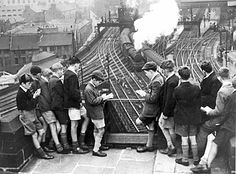 Trainspotting memories in pictures - Telegraph - This picture shows schoolboy train-spotters at Newcastle station in Newcastle, National Railway Museum, Steam Railway, British Rail, Old Trains, Central Station, Train Tracks, British History, London History