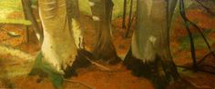 A WALK IN THE WOODS oil on canvas 180x60 or 2010