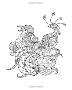 Digital Drawing Zentangle Peacock For Coloring Booktattooshirt Design Logo And So On
