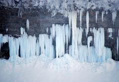 Spectacular Views of Frozen Niagara Falls: Ice formations at the Falls.
