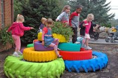 Creative uses for old vehible tires of all sizes!! There are plenty more on the…
