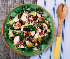 Pear, Apple and Kale Salad — Julia & Libby Pear Recipes, Salad Recipes, Kale Salad, Cobb Salad, Olive Oil Dressing, Mustard, Salads, Apple, Food