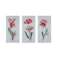"""Uttermost 35331 Springtime Promise 40"""" x 20"""" Canvas Art - Set of 3 (1,395 SAR) ❤ liked on Polyvore featuring home, home decor, wall art, canvas art, hand painted canvas, wall decor, 3 pc canvas wall art, inspirational canvas wall art, inspirational home decor and canvas wall art"""