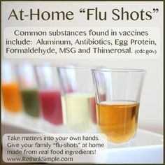 At Home Flu Shots -all natural
