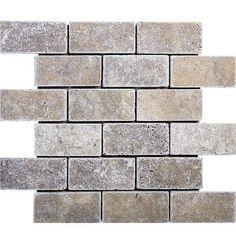 Parvatile Tumbled Brick 2 X 4 Stone Mosaic Tile