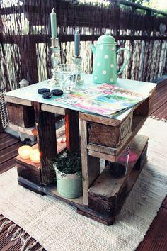 DIY Couch- oder Beistelltisch aus Paletten / Pallet Side Table