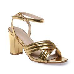 cabdcfcf87078d Sandales et Nu-pieds Femme pas cher - La Modeuse. Sandales vernis dorées ...