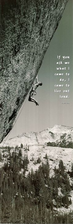 Find your mountain and rock climb. #WhatAnAdventure