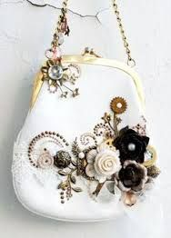 Steampunk purse by Anna Dabrowska altered-projects Vintage Purses, Vintage Bags, Vintage Handbags, Vintage Clutch, Unique Purses, Cute Purses, Beaded Purses, Beaded Bags, Frame Purse