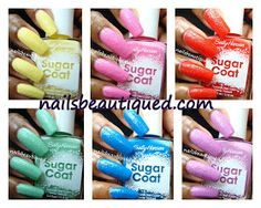 Sally Hansen Sugar Coat Textured Nail Color, Swatches and Review | Nails Beautiqued