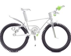 Bicycles and Cycling Cake Topper Wire Mountain Bike by OzWireArt