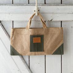 Canvas & Jute Garden Bag