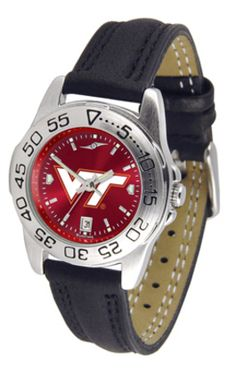 4c80243a8d5 Virginia Tech Hokies Sport AnoChrome Ladies Watch with Leather Band  Products, Louisville Cardinals, Dayton