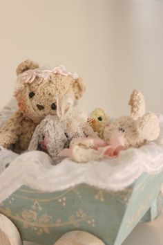 ...lullaby, teddy, are you ready for bed?  Lullaby, teddy, go to dreamland instead.....