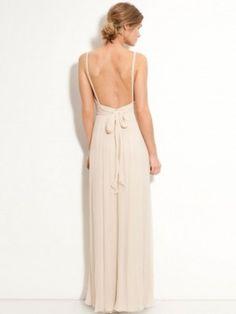 Sheath/Column Straps Floor-Length New Chiffon Dress