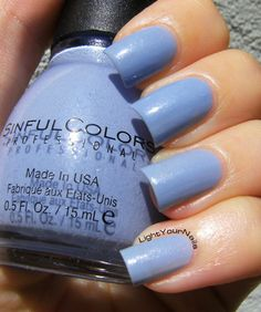 Sinful Colors Violets are Blue #nails #nailpolish #sinfulcolors