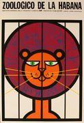 Zoologico de la Habana Original Havana Cuba Poster Lion