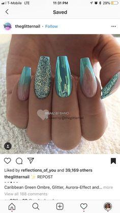 New snapshots nail design light blue diy background, # light blue # snapshots # background manos Sparkle Nail Designs, Sparkle Nails, Fancy Nails, Love Nails, Best Acrylic Nails, Acrylic Nail Designs, Nail Art Designs, Gorgeous Nails, Pretty Nails