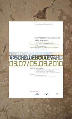 "Identity design for outdoor sculpture exposition ""Beelden op de Scheldeboulevard"" in Terneuzen, The Netherlands"