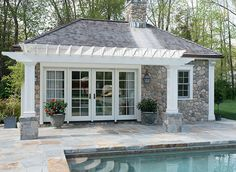 beautiful pool house - Pool House Plans