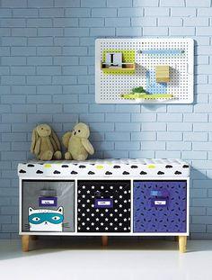 2-in-1-Sideboard für Kinder WEIß