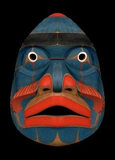 Bella Coola Komokwa Mask Kwaguilth, Native American