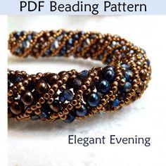 Netted Stitch Tubular Spiral Beading Pattern