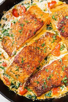 Salmon recipes 20055160827345171 - Tuscan Butter Salmon Is An Impressive Dinner That ANYONE Can MakeDelish Source by thenovicechef Seafood Recipes, Chicken Recipes, Dinner Recipes, Cooking Recipes, Healthy Recipes, Italian Fish Recipes, Recipes For Fish, Cooked Shrimp Recipes, Tuscan Recipes