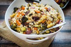 Warm Israeli Couscous and Roasted Vegetable Salad