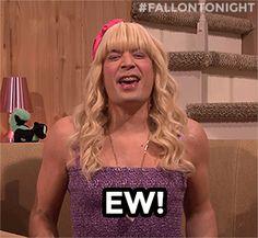 These videos make me so happy! Jimmy Fallon as Sara on Ew!