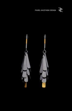 earrings / silver & gold / Pawel Kaczynski Design / 2016 Contemporary Jewellery, Modern Jewelry, Metal Jewelry, Jewelry Shop, Jewelry Art, Jewelry Design, Fashion Jewelry, Black Gold Jewelry, Unusual Jewelry