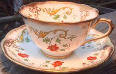 Gorgeous Royal Albert Crown China Teacup and by TheTipsyTeapot