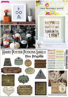 6 FREE Harry Potter Themed Printables! Perfect for Halloween and decorating.